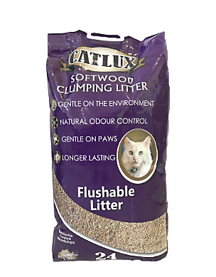 Catlux softwood clumping litter