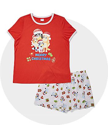 bluey kids womens christmas pyjamas