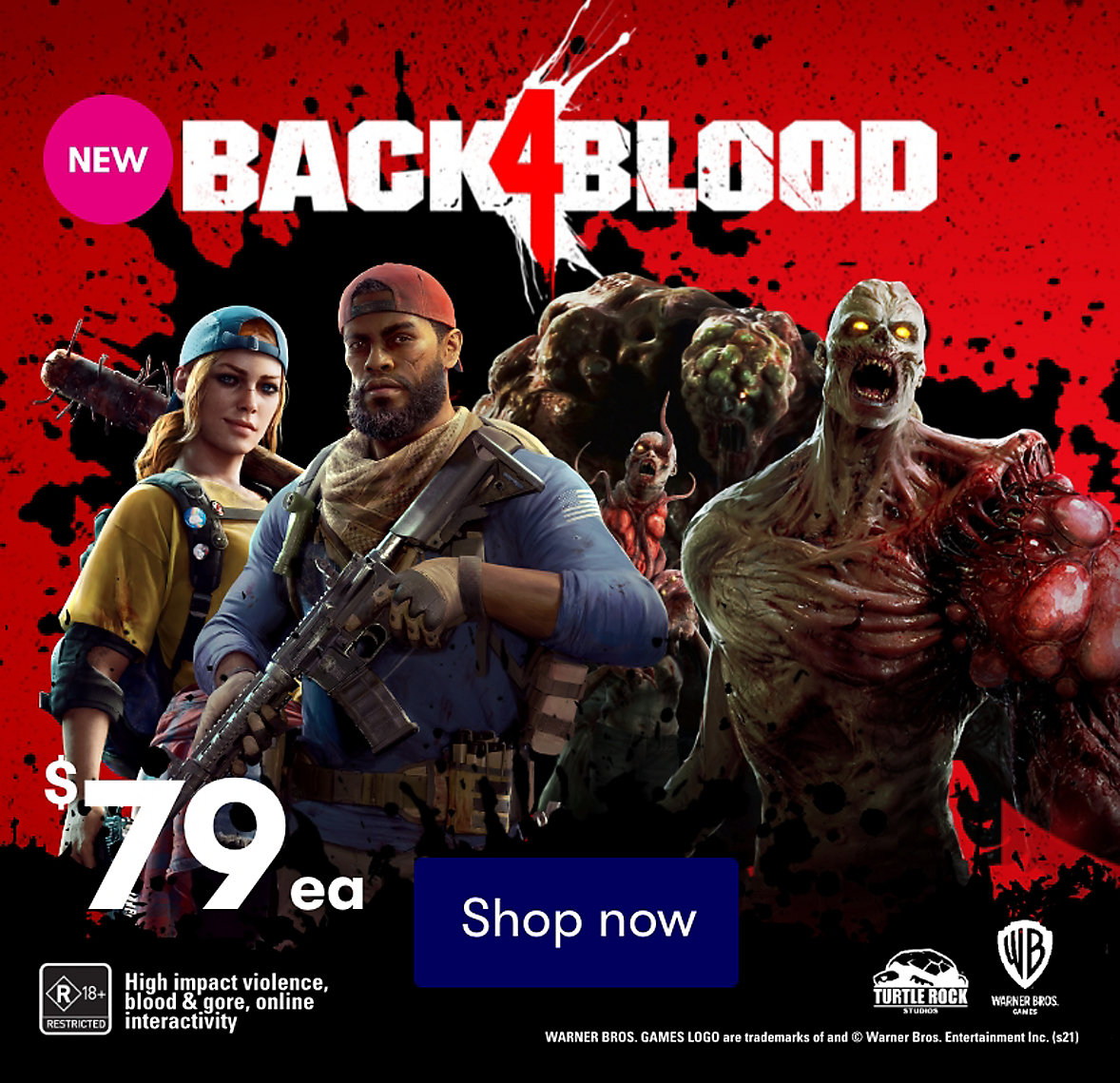 Buy Back 4 Blood now at BIG W