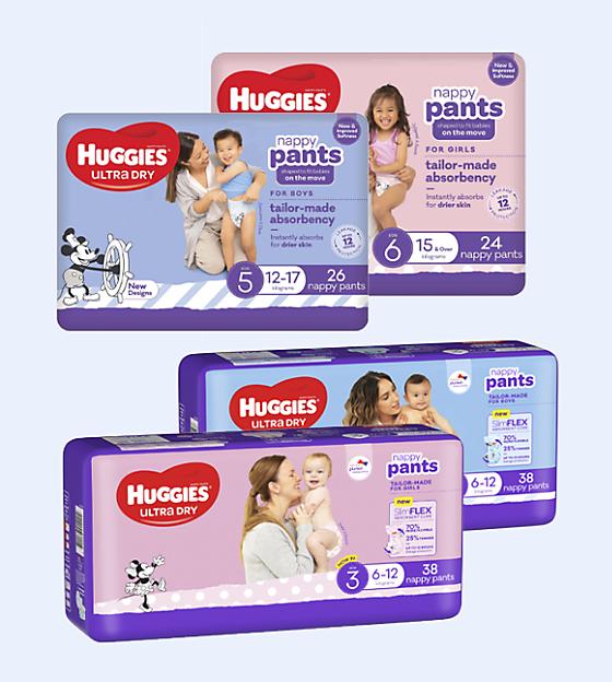 Huggies Nappy Pants on sale