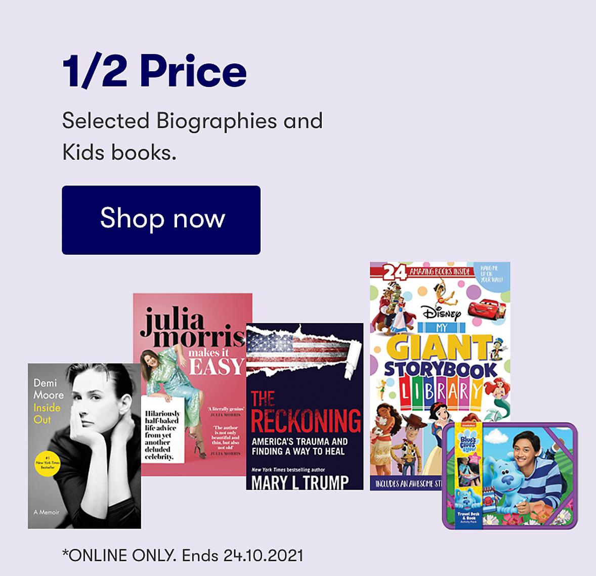 Shop half price selected books at BIG W