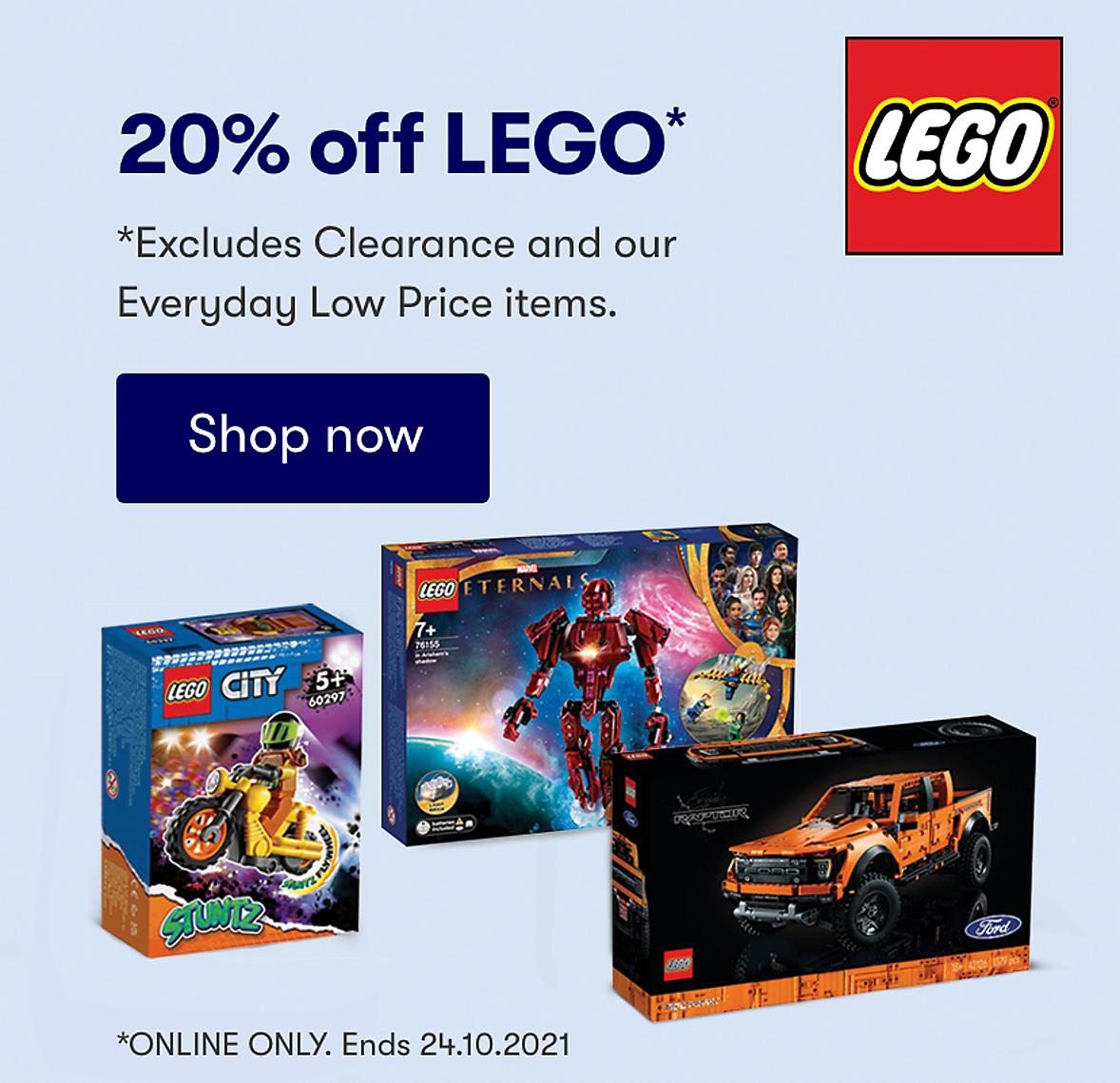 Shop 20% off LEGO at BIG W