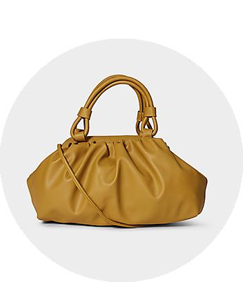 women gold handbag bag