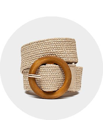 cream belt