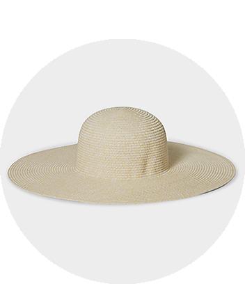 womens cream sun hat