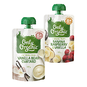 Only Organic baby food and snacks