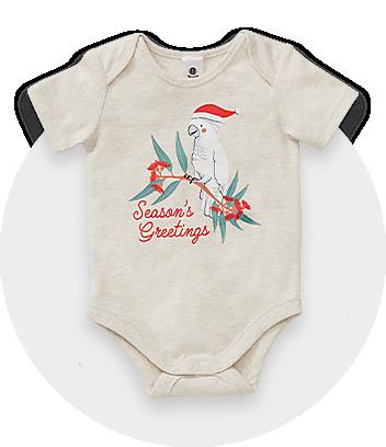 Baby Beige Christmas Bodysuit