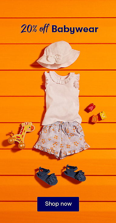 20% off baby clothes