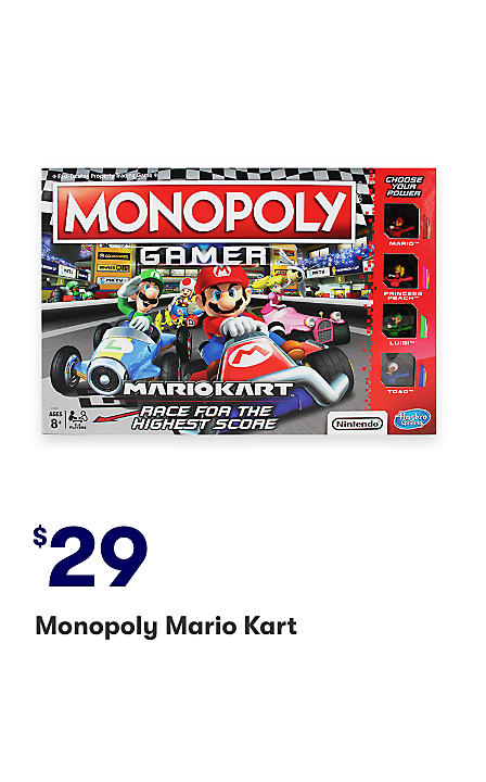 Monopoly Mario Kart $29