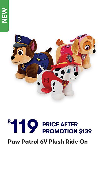 Paw Patrol Plush Ride Ons