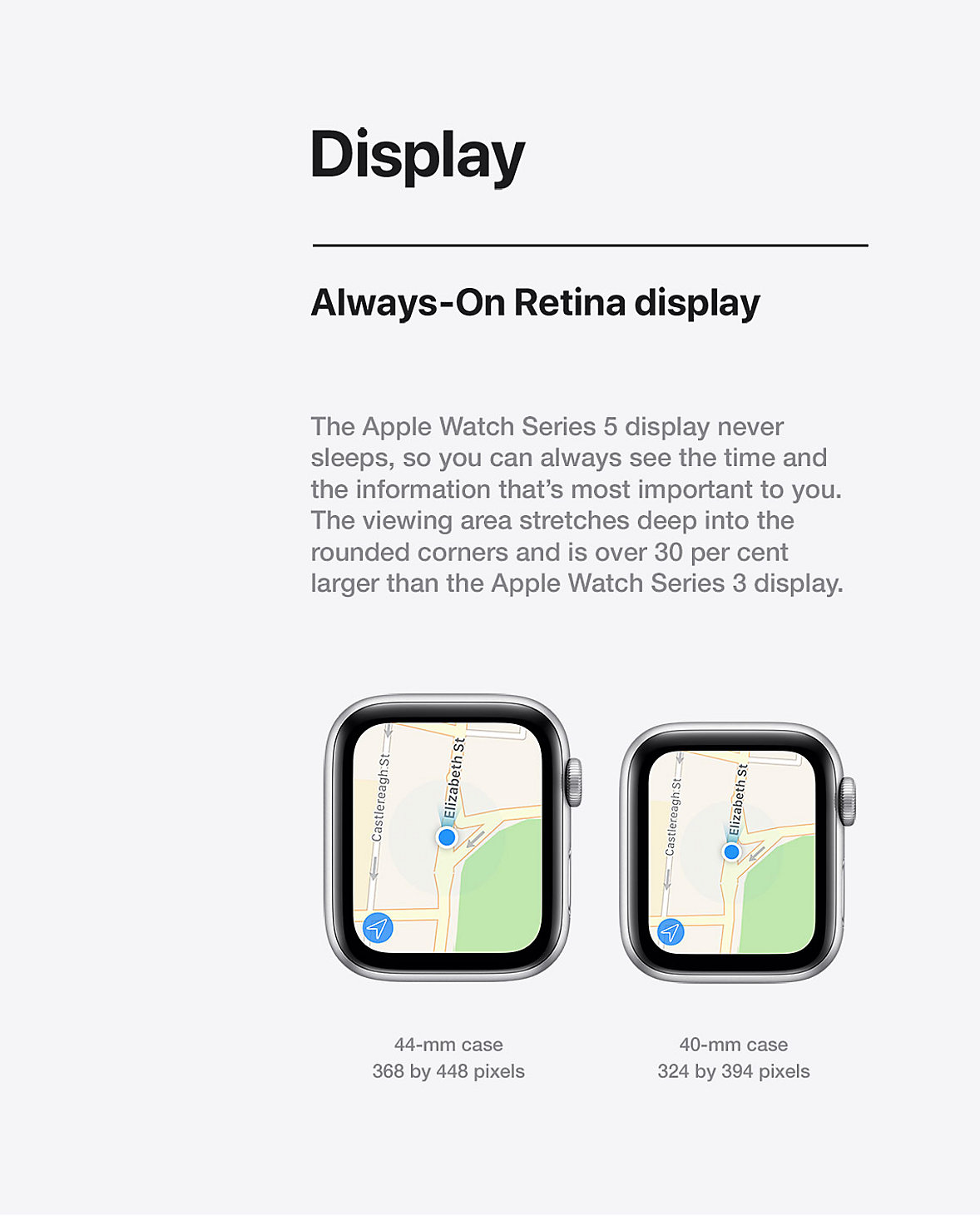 Apple Watch Display Always On Retina