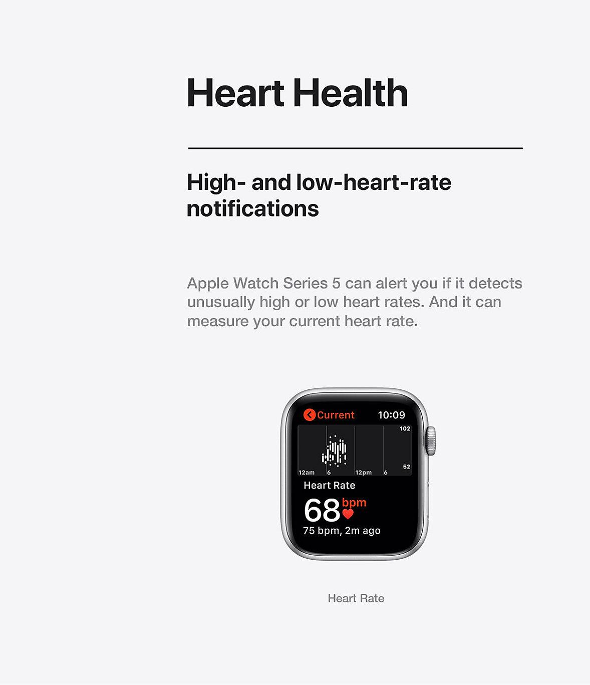 Apple Watch Heart Health Series 5