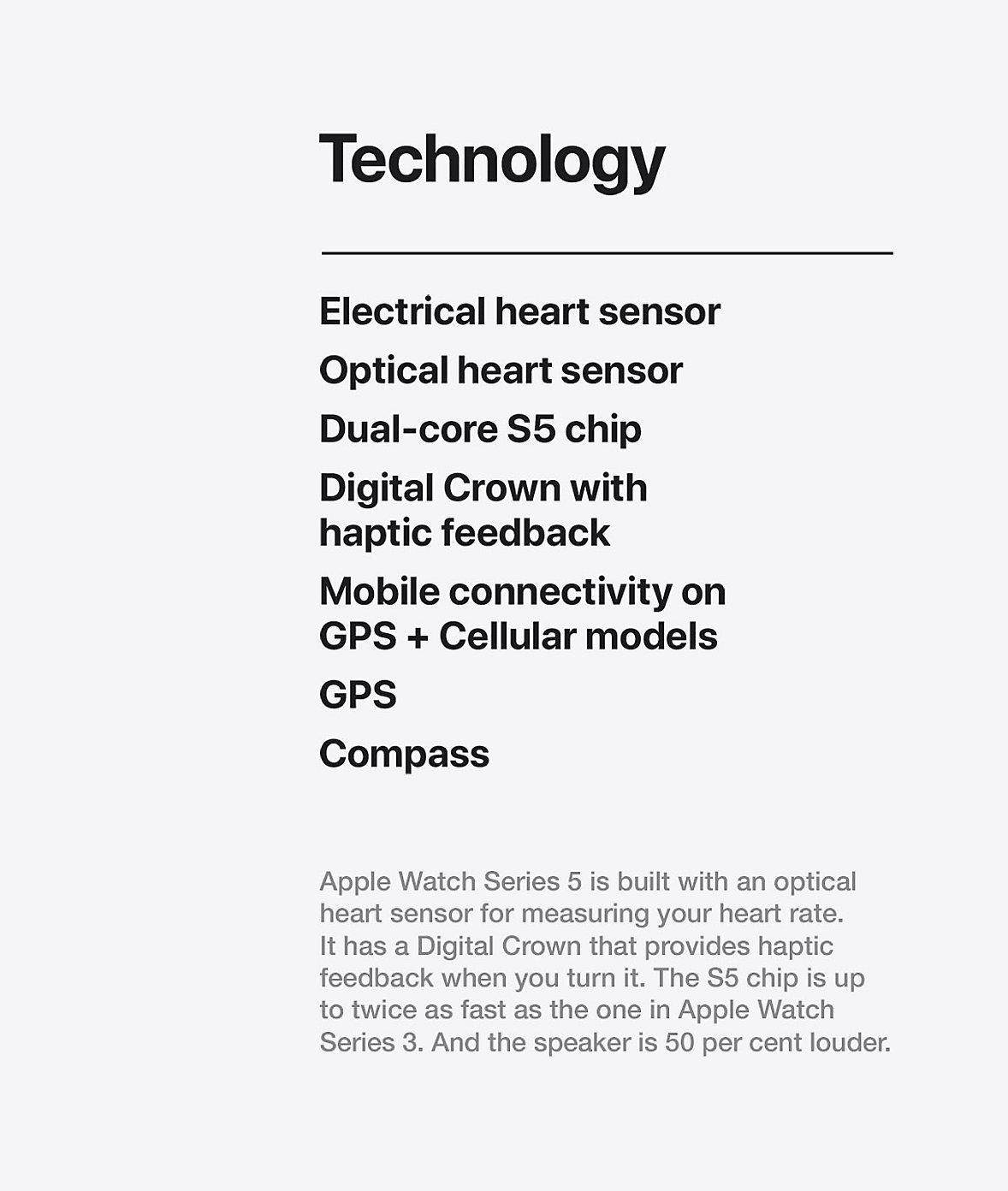 Apple Watch Technology Series 5
