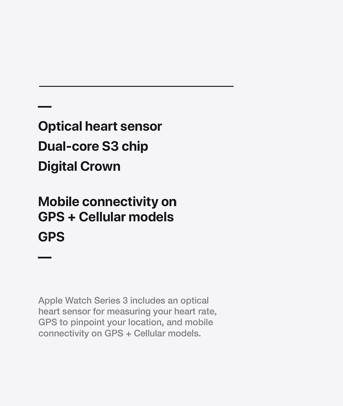 Apple Watch Technology Series 3