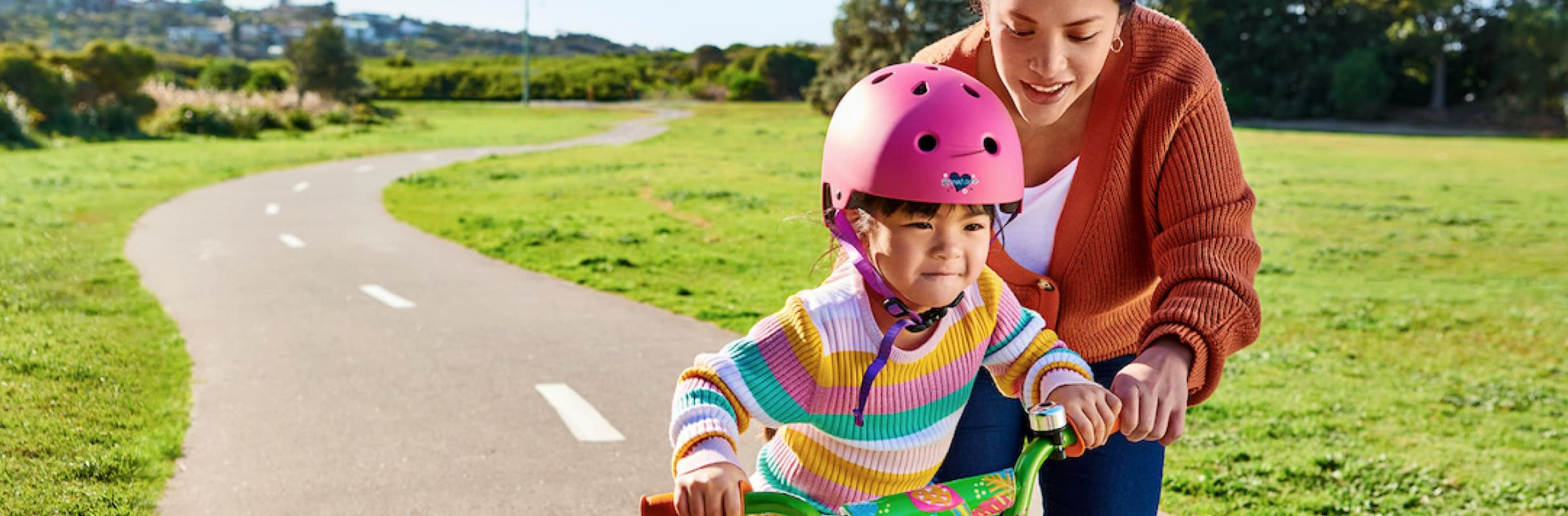 A kid on a bike