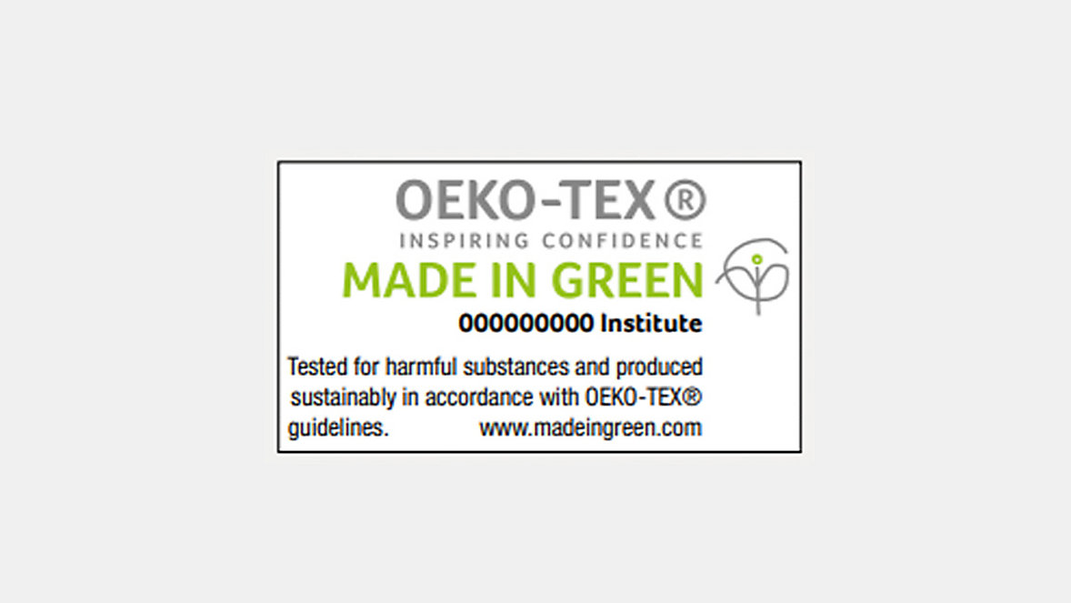 OEKO-TEX Inspiring Confidence. Made in green.