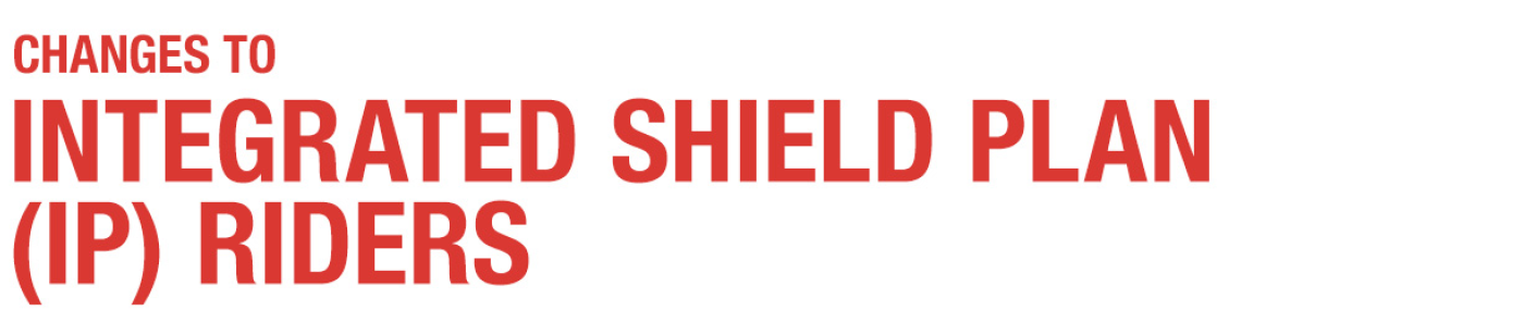 Changes to Integrated Shield Plan (IP) Riders - Great Eastern