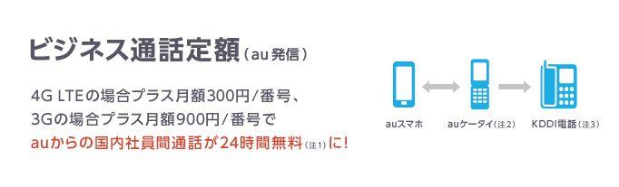 ビジネス通話定額 (au発信)