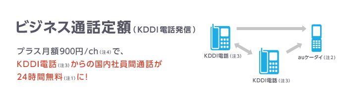 ビジネス通話定額 (KDDI電話発信)