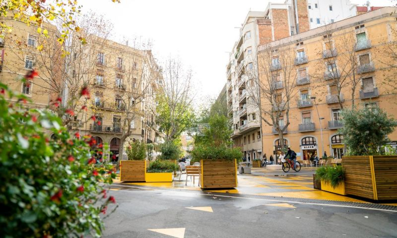 Barcelona's superblocks have seen the streets reclaimed to create walkable neighbourhoods with public spaces available for the use of residents.