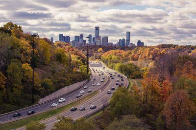 Photograph of the Canada city skyline.