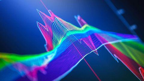 Digital graph pattern.