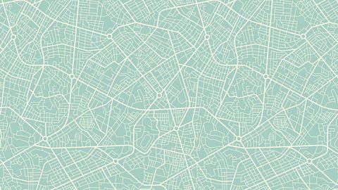 Green digital pattern.