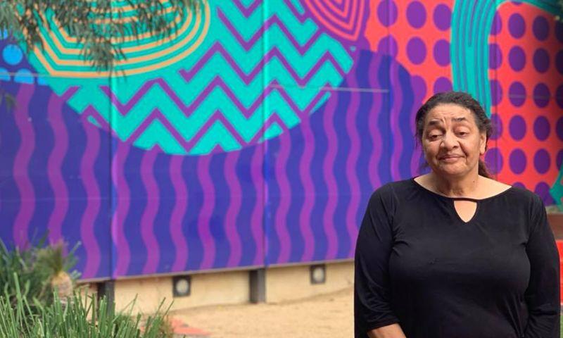 Leanne Miller standing outside the Ngarara Willim Centre
