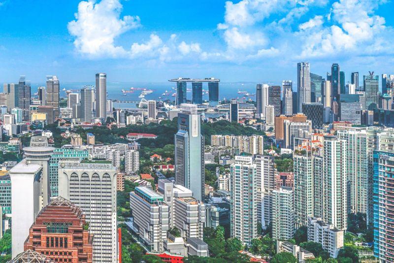 Singapore, city buildings photo.