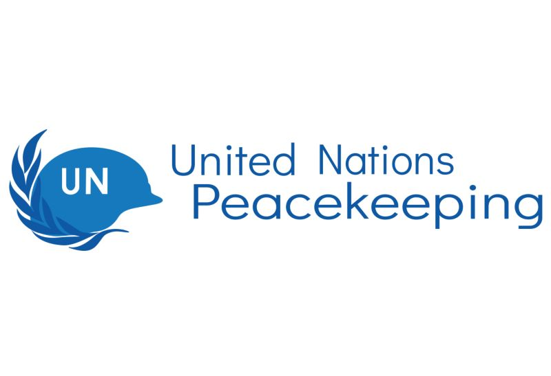 United Nations peacekeeping logo.