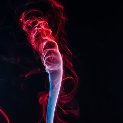 Red and blue After Effects smoke effect