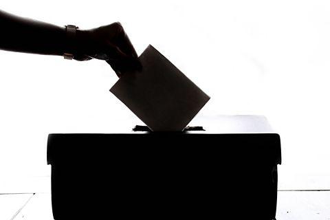 Ballot election paper. Photograph.