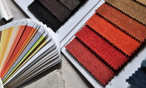 picture of colour and fabric swatches