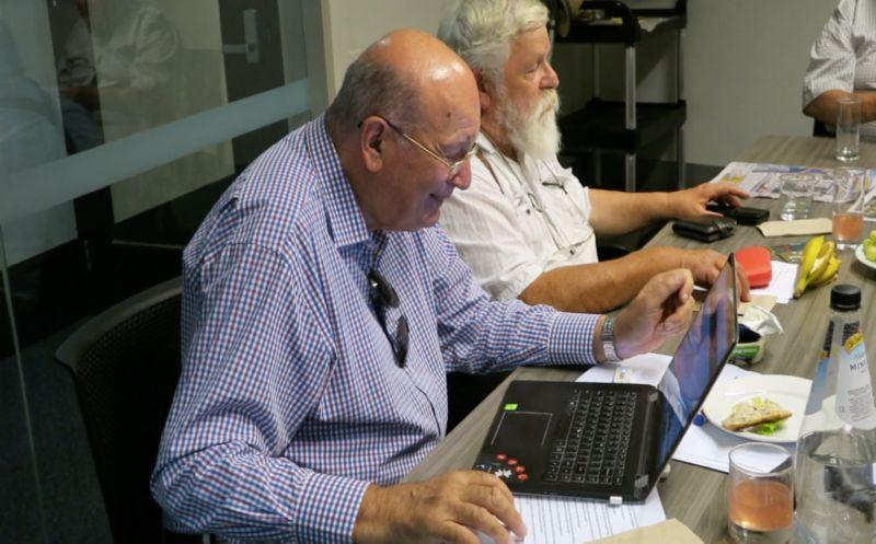 Staff on their laptops