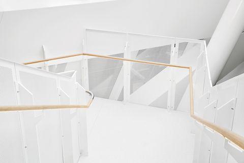 Stairs white.