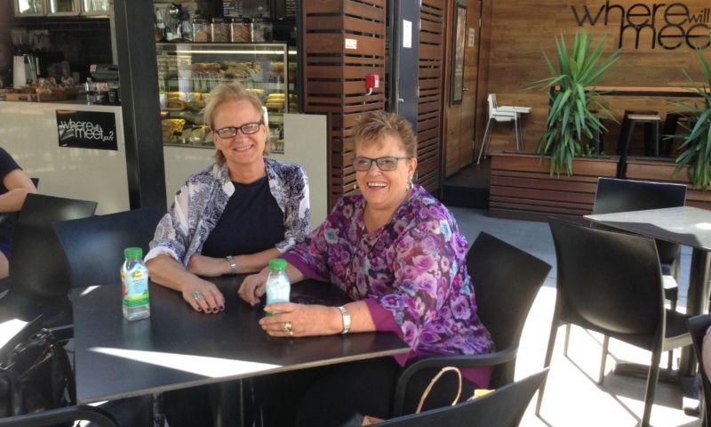 Author Maree Coote with Lindy Chamberlain-Creighton