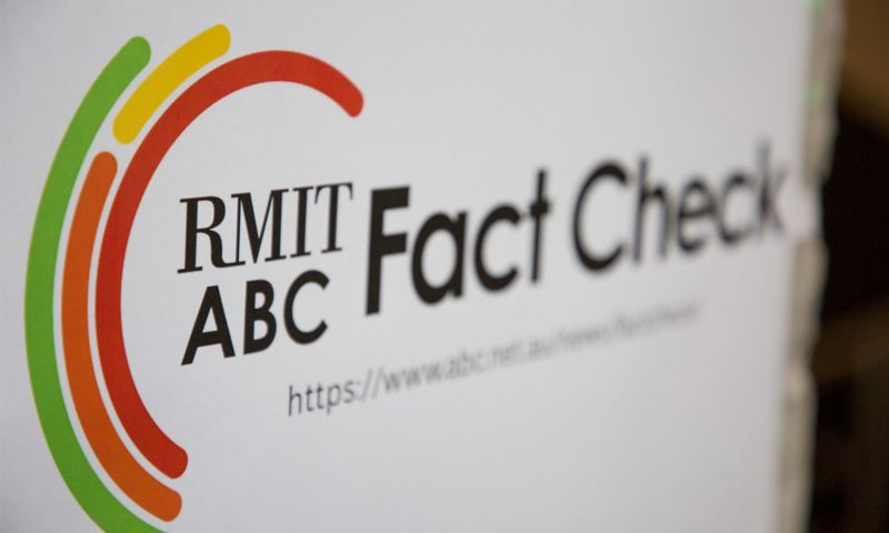 RMIT ABC Fact Check sign