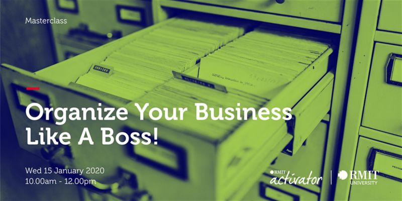 organise your business like a boss jan 2020