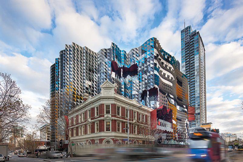 RMIT Melbourne. Showing the outside buildings texture.