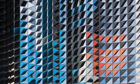 Geometric building texture.