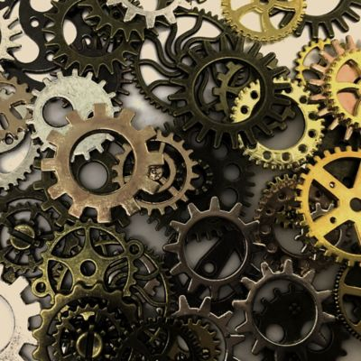 Engineering. Coloured cogs.