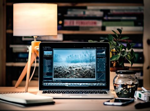 laptop working desk