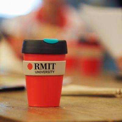 RMIT branded keepcup.