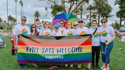 Trans and gender diverse applicant image. RMIT Pride.