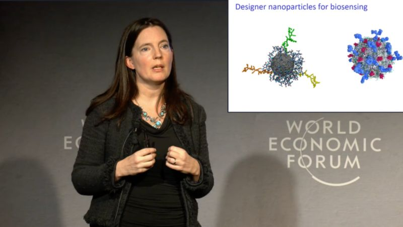 woman speaking at science conference