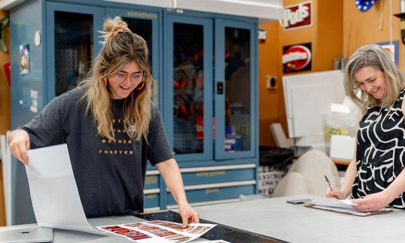 Julia at RMIT's Fashion and Textiles facilities