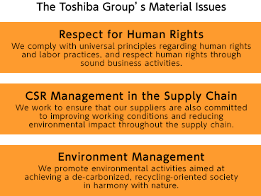 The Toshiba Group's Material Issues