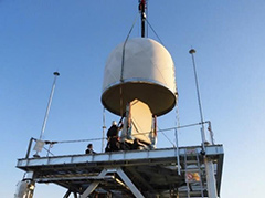 MP-PAWR at time of installation at Saitama University (before covering the antenna with a radome)