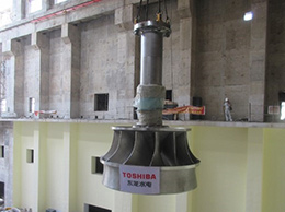 The hydro turbine installed at Trung Son Hydro Power Station