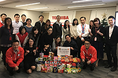 Food drive at Toshiba International Procurement Hong Kong,Ltd.